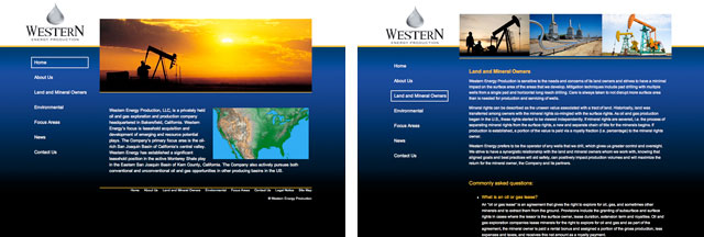 Wester Energy Production sample