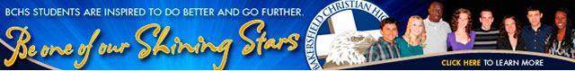 Bakersfield Christian High School banner ad sample